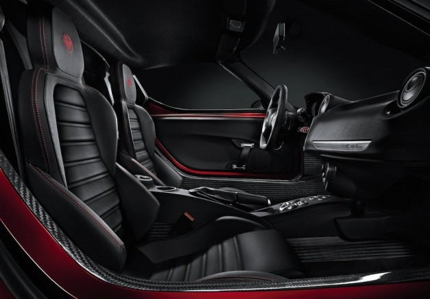 Alfa Romeo releases interior picture of 4C sports coupe