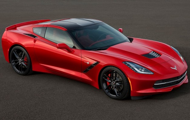 2014 Chevrolet Corvette Stingray C7 Front 304 Right High Angle Close Up