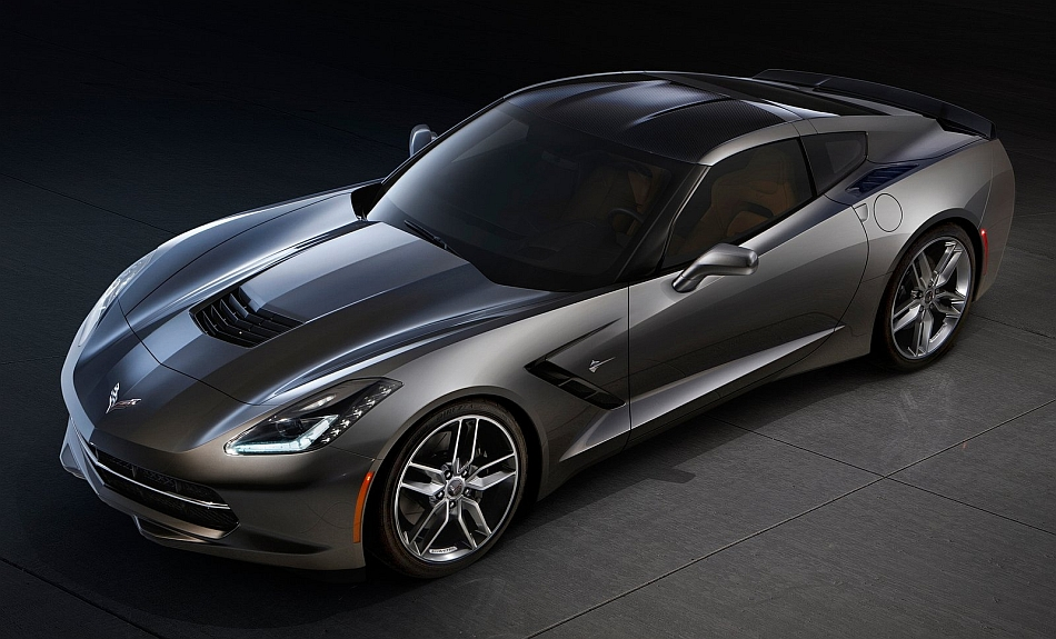 2014 Chevrolet Corvette Stingray C7 Front 7-8 Left High Angle Studio