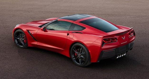 2014 Chevrolet Corvette Stingray C7 Rear 3-4 Left Track