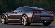 2014 Chevrolet Corvette Stingray C7 Rear 7-8 Left Close Up