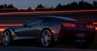 2014 Chevrolet Corvette Stingray C7 Rear 7-8 Left Close Up Night Shot