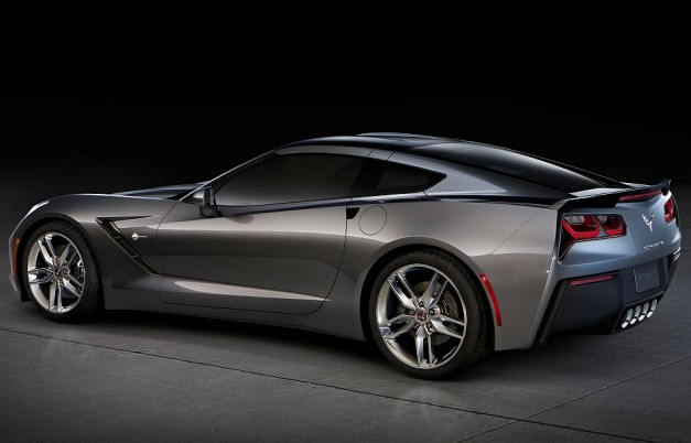 2014 Chevrolet Corvette Stingray C7 Rear 7-8 Left Studio