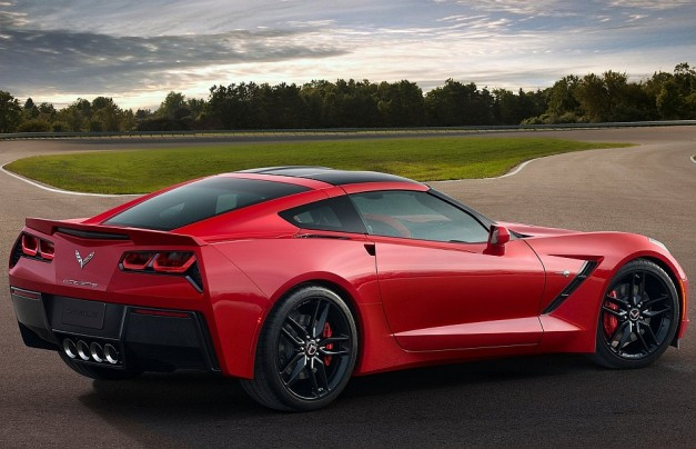 2014 Chevrolet Corvette Stingray C7 Rear 7-8 Right Close Up