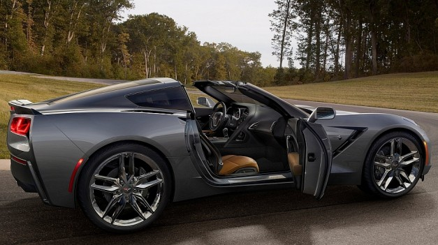 2014 Chevrolet Corvette Stingray C7 Right Side Top Removed