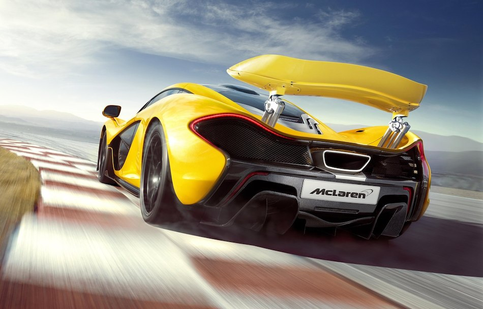 2014 McLaren P1 Rear 3-4 Left Track Cruising