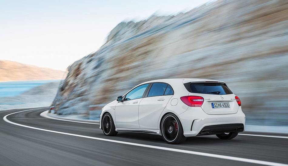 2014 Mercedes-Benz A45 AMG Rear 7-8 Left Cruising