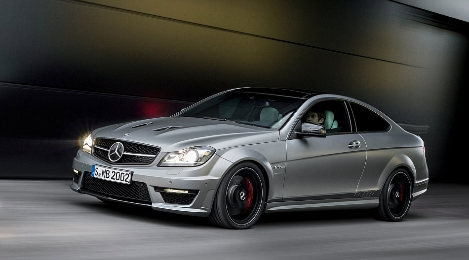2014 Mercedes-Benz C63 AMG Edition 507 Front 7-8 Left Cruising
