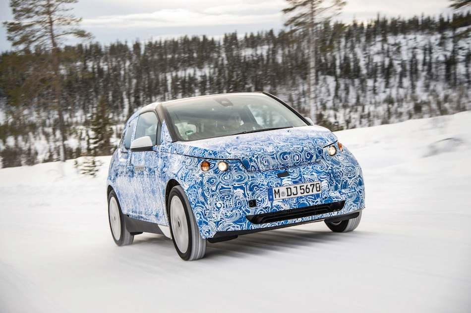 BMW i3 Winter Testing Official Front 3-4 Right