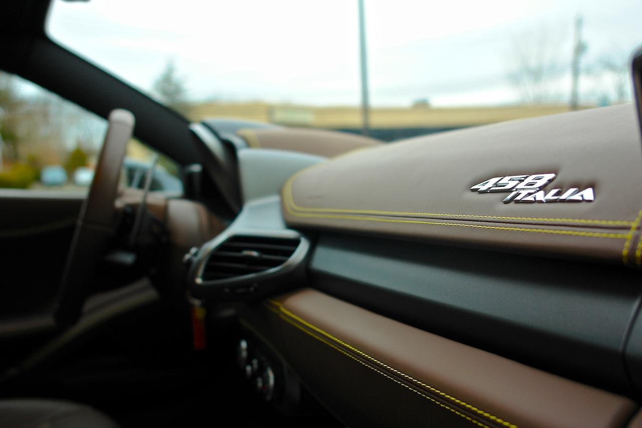 2010 Ferrari 458 Review Dashboard Close Up
