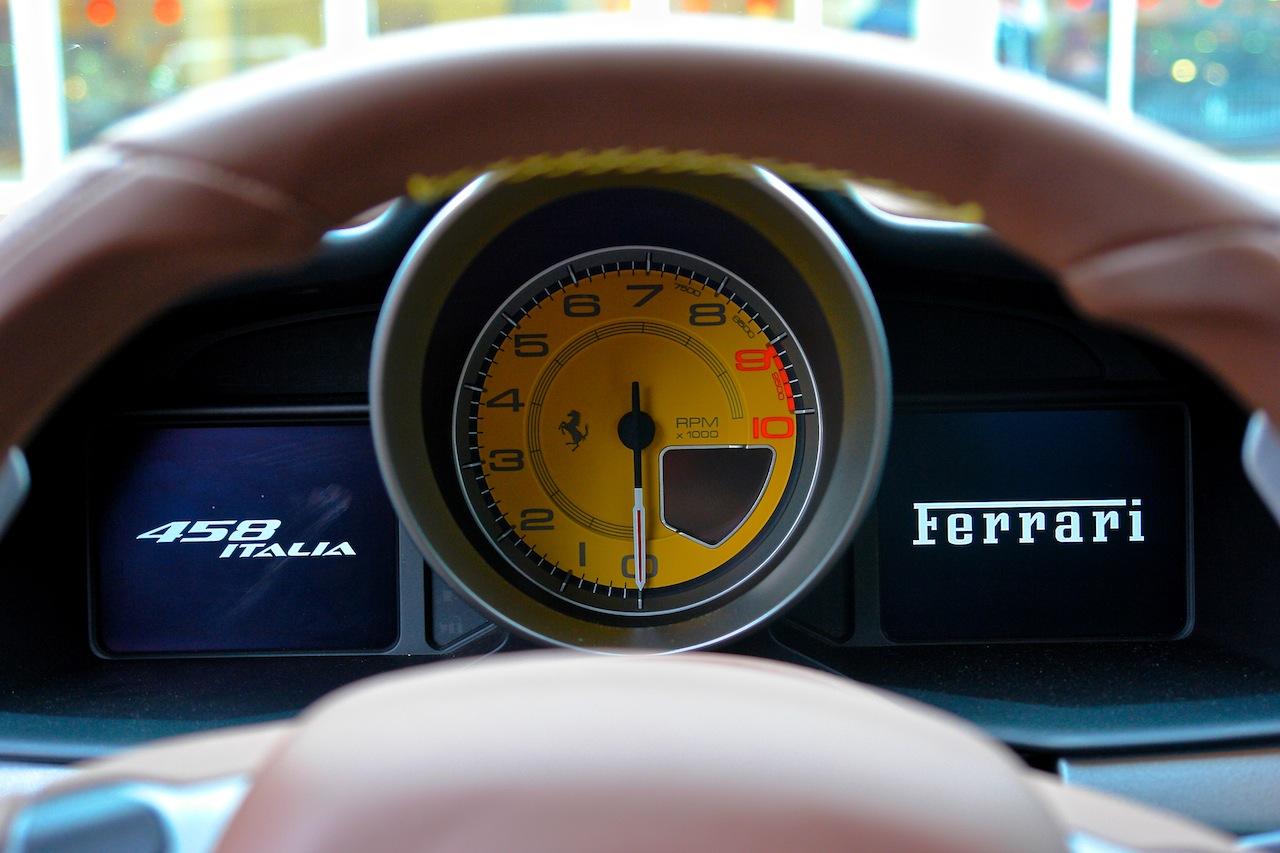 2010 Ferrari 458 Review Gauge Cluster Entrance