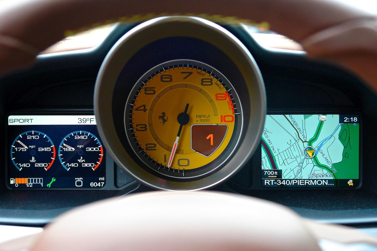 2010 Ferrari 458 Review Gauge Cluster