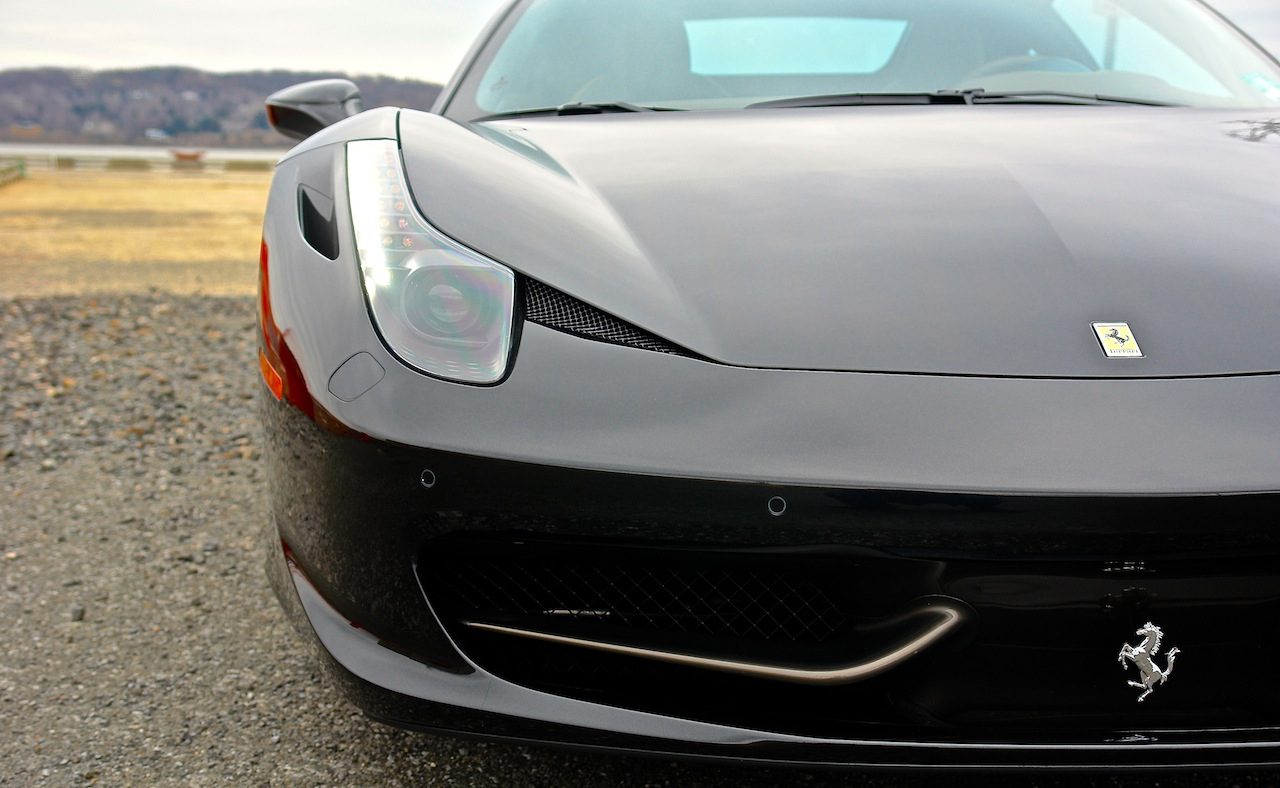 2010 Ferrari 458 Review Headlight Detail