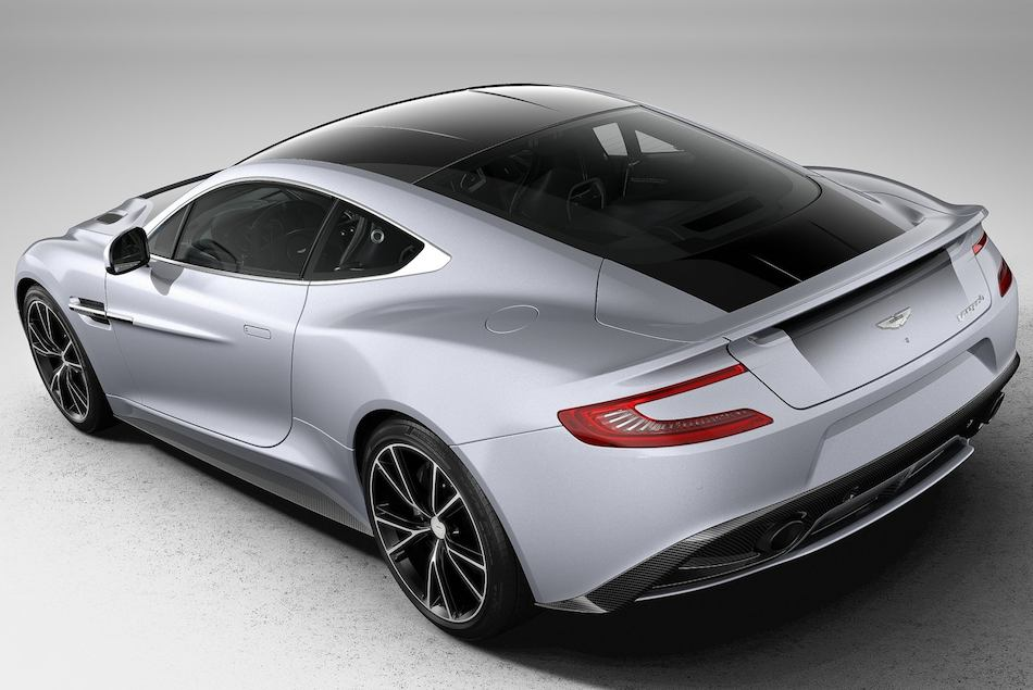 2013 Aston Martin Vanquish Centenary Edition Rear 3-4 Left High Angle