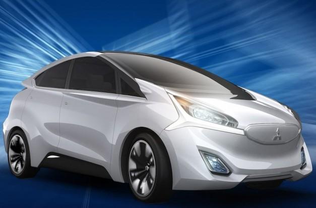 2013 Geneva: Mitsubishi showcases CA-MiEV Concept next to GR-HEV