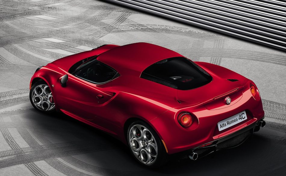 2014 Alfa Romeo 4C Rear 7-8 Left