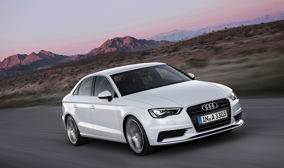 2014 Audi A3 Sedan Front 7-8 Right Cruising