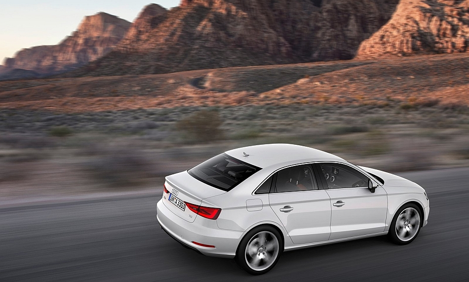 2014 Audi A3 Sedan Rear 7-8 Right Cruising