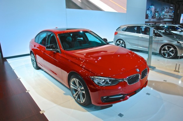 2014 BMW 328d NYIAS Front 3 4 Right 627x417 2013 New York: The 2014 BMW 328d starts the wave of new BMW Advanced Diesels at New York