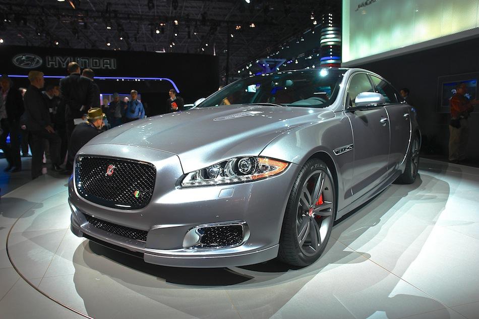 2014 Jaguar XJR NYIAS Front 3-4 Left Profile