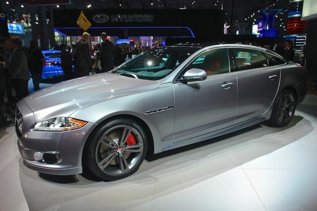 2014 Jaguar XJR NYIAS Front 7-8 Left