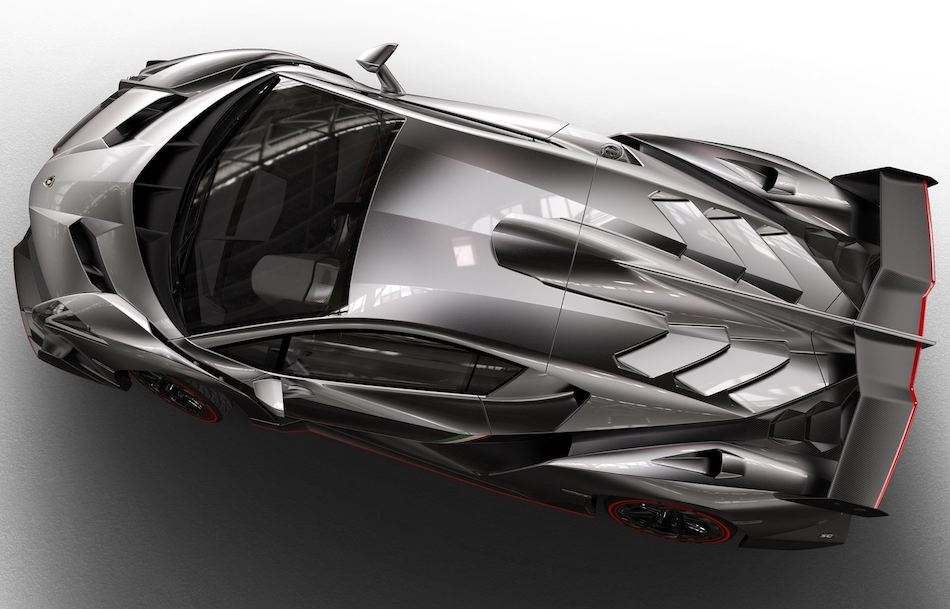 2014 lamborghini veneno from above