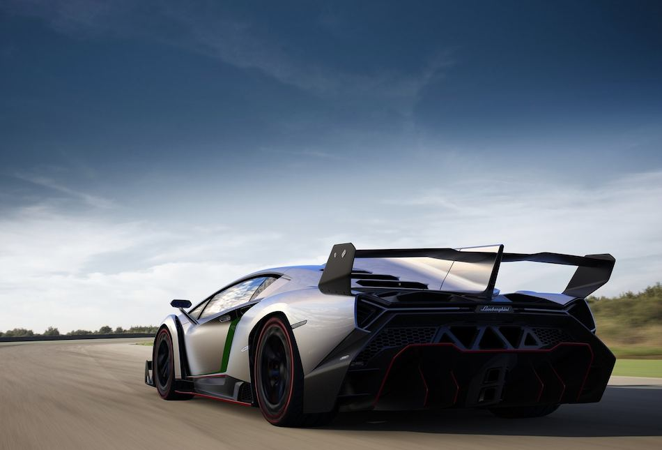 2014 Lamborghini Veneno Rear 3-4 Left Cruising