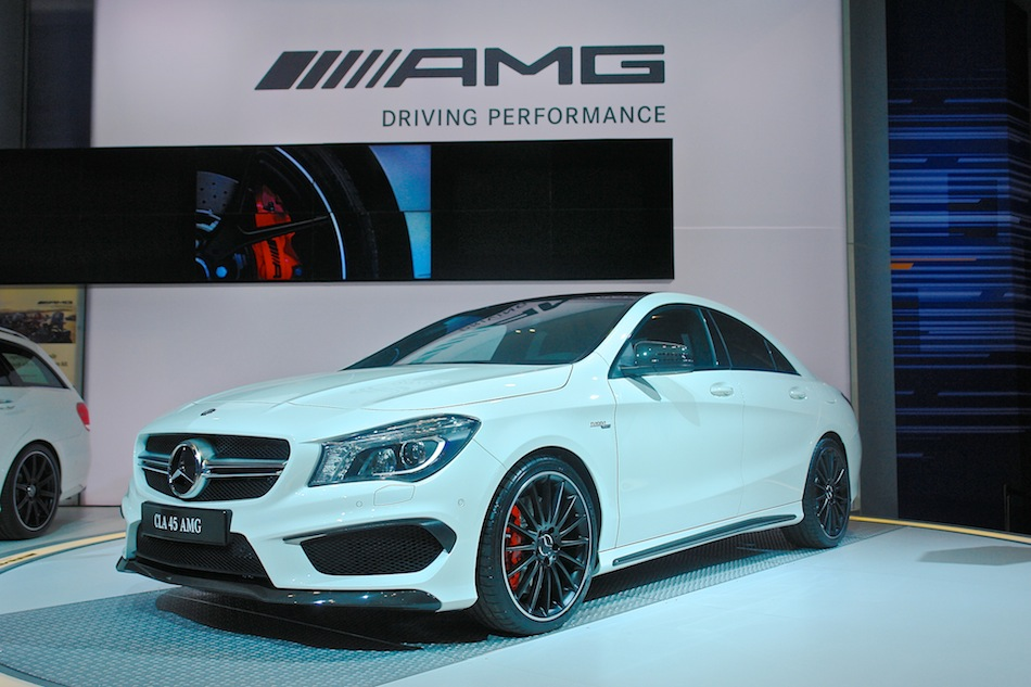 2014 mercedes benz cla45 amg nyias front 3 4 left egmcartech. Cars Review. Best American Auto & Cars Review