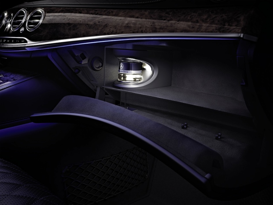 2014 Mercedes-Benz S-Class Interior Teaser Glovebox Close Up