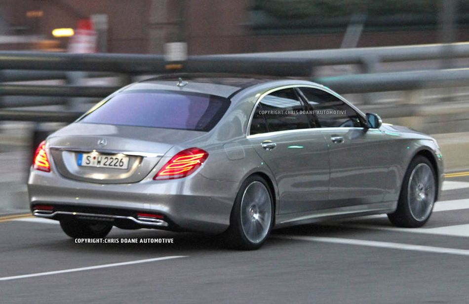 2014 mercedes benz s class spy shots rear 7 8 right egmcartech. Cars Review. Best American Auto & Cars Review