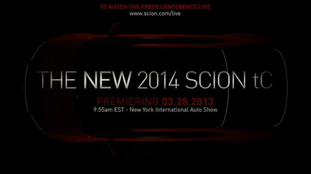 Scion teases new 2014 tC coupe debut for this year's NY Auto Show