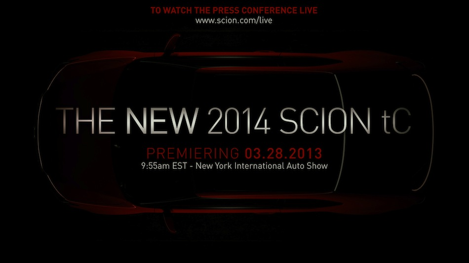 2014 Scion tC Teaser NYIAS