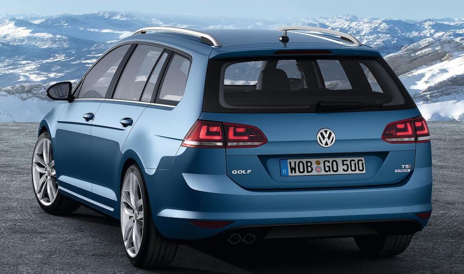 2014 Volkswagen Golf Variant Rear 3 4 Left Close Up Egmcartech