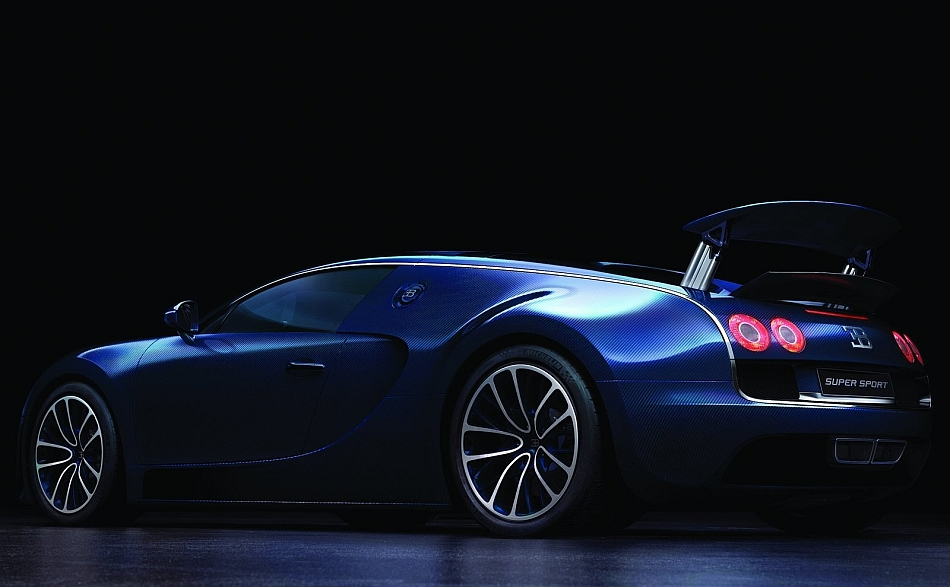 2012 Bugatti Veyron Super Sport Rear 7-8 Left Studio