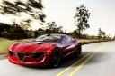 2013 Alfa Romeo 6C Coupe Concept Front 3-4 Left Road Cruising