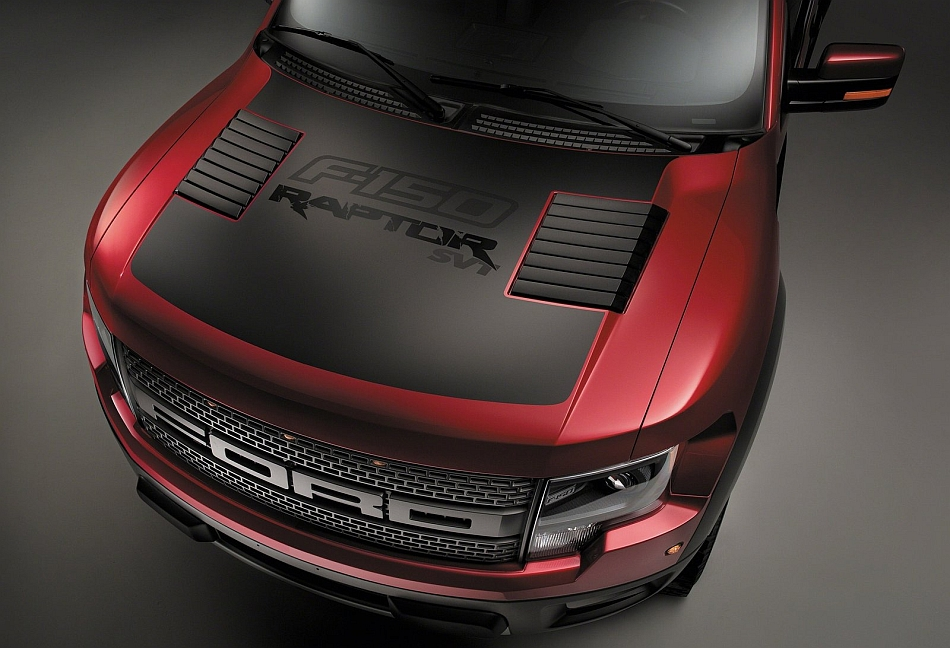 2014 Ford F150 SVT Raptor Special Edition Hood Detail