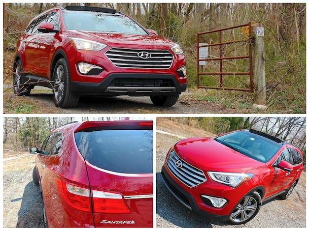 First Review - 2013 Hyundai Santa Fe Limited AWD Collage