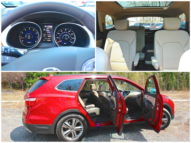 First Review - 2013 Hyundai Santa Fe Limited AWD Interior Collage
