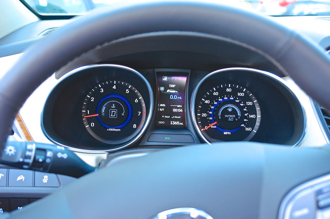 first review 2013 hyundai santa fe limited gauge cluster. Black Bedroom Furniture Sets. Home Design Ideas