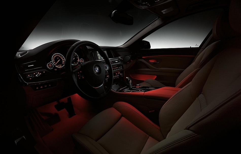 2014 BMW 5-Series Interior Ambient Lighting - egmCarTech