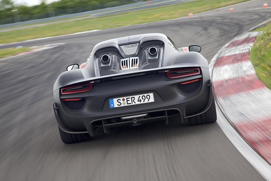 2015 porsche 918 spyder production rear cruising porsche 918 spyder wallpaper - Porsche 918 Production Wallpaper