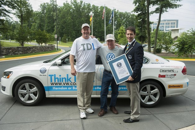 Volkswagen sets the Guinness World Record for lowest fuel consumption in a non-hybrid vehicle