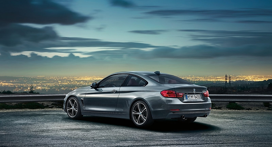 2014 bmw 4 series coupe rear 3 4 left egmcartech. Black Bedroom Furniture Sets. Home Design Ideas