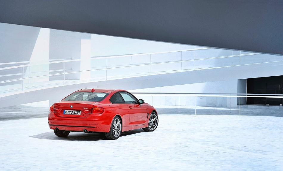 2014 bmw 4 series coupe rear 3 4 right egmcartech. Cars Review. Best American Auto & Cars Review