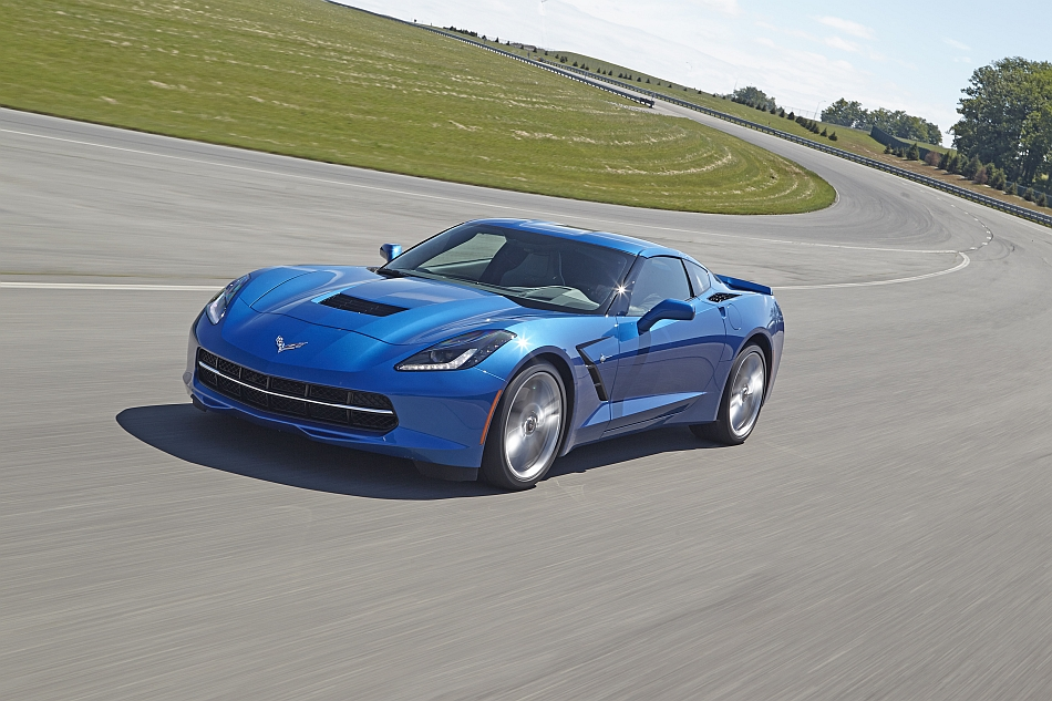 2014 Chevrolet Corvette Stingray Factory Performance Testing Front Left 7-8 In Motion
