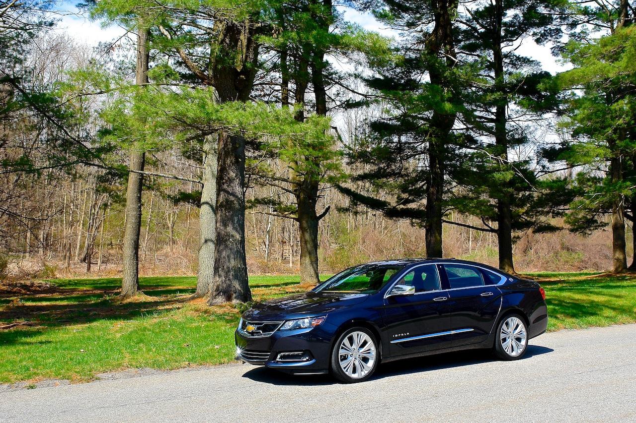 2014 chevrolet impala ltz front 7 8 left profile egmcartech. Black Bedroom Furniture Sets. Home Design Ideas