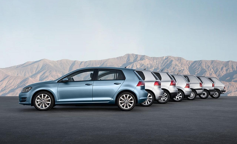 2014 Volkswagen Golf and its Seven Generations