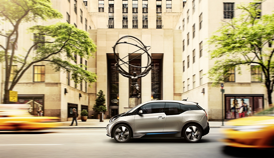 2014 BMW i3 Cruising by Rockefeller Center