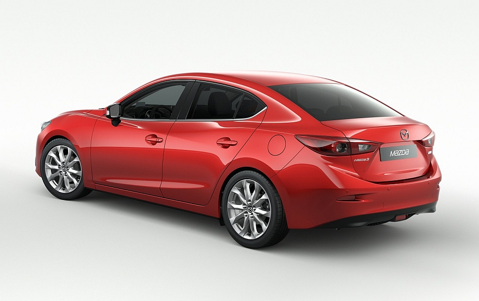 2014 Mazda3 Sedan Rear 7-8 Left Studio