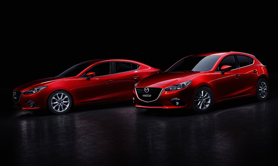 2014 Mazda3 Sedan with Hatchback Studio